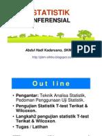 Statistik Keshtn - Uji Beda T-test Terikat+ Wilcoxon