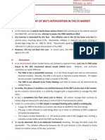 An Assessment of SBV'S Intervention In The FX Market