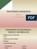 TRASTORNOS ORGÁNICOS