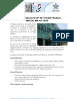 CURSO BÁSICO ADMINISTRATIVO DE TRABAJO SEGURO EN ALTURAS