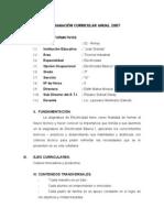 PROGRAMACIÓN CURRICULAR ANUAL 2007_Electricidad Básica I