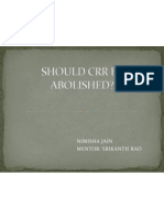 Should Crr Be Abolished