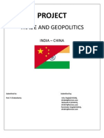Trade& Geopolitics - Indo China