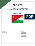 Trade& Geopolitics - Indo China