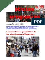 Noticias Uruguayas Domingo 7 de Octubre Del 2012