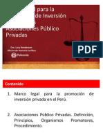 Proinversion Marco Legal Inversion Privada y App l Henderson