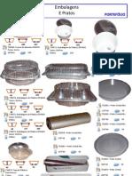 Embalagens plastico pratos e rolos celofane