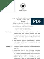 2007-Perpres No 90 Th 2007 Ttg Badan Koordinasi Penanaman Modal
