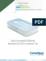 AirRenew Brochure Panneaux de gypse pour une meilleure qualité de l'air intérieur