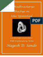 Sri Madhva's Bhashya on Isha Panishad Book