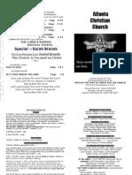 October 7, 2012 Church Bulletin