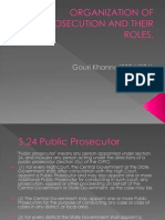 Organization of Prosecution and Their Roles