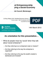 Social Entrepreneurship and Social Economy