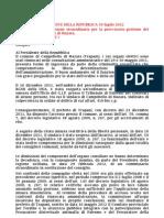 Scioglimento c c Campobello Di Mazara Per Infiltrazioni Mafiose Decreto Del Presidente Della Repubblica 30 Luglio 2012