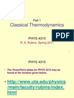 Overview Classical Thermodynamics
