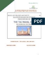 Hr Project Taj Hotel
