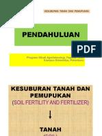Kuliah 1. Pendahuluan 1- kesuburan tanah