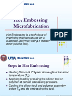 Hot Embossing Microfabrication