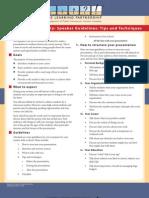 P2P Speakers Guidelines