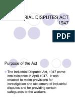 3044364 Industrial Disputes Act 1947