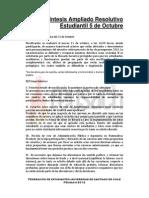 Síntesis Ampliado Resolutivo del 5 de Octubre