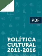 Política cultural 2011 2016