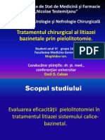 Pielolitotomia in tratamentul litiazei bazinetale.