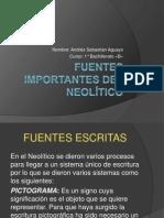 Fuentes Importantes Del Neolitico