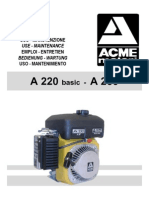 Acme Motori A220-A230 Operating Instrux