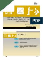 O Sistema Municipal de Bibliotecas da Cidade de São Paulo e o Tratamento da Informação