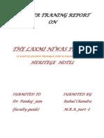 Report on Laxmi Niwas Palace
