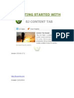 Getting Started With Bj Content Tab