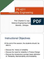 Week 1 PE-4211 Reliability Mon 10-1-2012