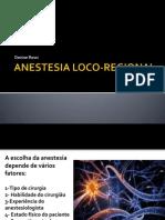 Anestesia Loco-regional 2012