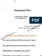 A basement fire Lessons from a subway fire in South Korea