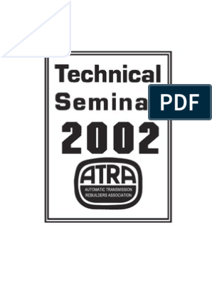 Atra Seminars | Transmission (Mechanics) | Manual Transmission