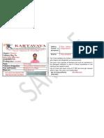 I Card Form Sample