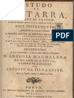 Antonio Da Silva Leite. Estudo de Guitarra. 1796