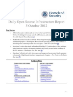 DHS Daily Infrastructure Report 2012-10-05