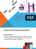 Recruitment and Selection Powerpoint Final