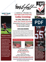 SC Blues Heartfelt Cardiac Screenings -- Oct. 29th, 30th, & Nov. 1st, 2012