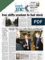 Bismarck Tribune Frontpage - Heidi