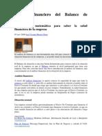 Analisis Financiero Del Balance de Situacion