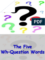 Five Wh-Question Words Presentation
