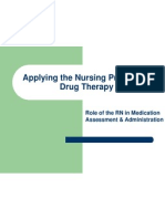 6 Applying the Nursing Process to Drug Therapy