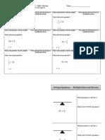 Hands on Equations - Mult Divide Foldable