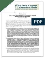 Conclusiones Foro Medellin