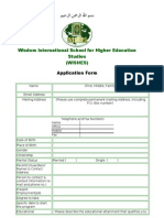 Application Form WISHES