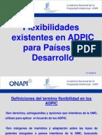 Flexibilidades existentes en ADPIC para países en desarrollo -01-10-12-