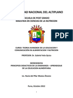 Principios Didacticos Educacion Alimentaria